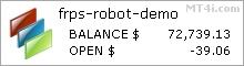 Front Runner Pip Strike Plus Robot - Demo Account Statement
