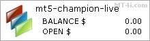MT5 Champion EA - ნგარიშის Trading შედეგები გამოყენება ეს Forex ექსპერტი მრჩეველი და FX სავაჭრო რობოტი EURUSD და GBPUSD სავალუტო წყვილები